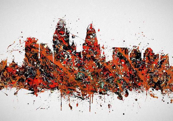 Wall Art - Painting - Cincinnati Colorful Skyline by Dan Sproul