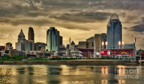 Photograph - Cincinnati Evening Home Game by Mel Steinhauer