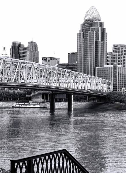 Photograph - Cincinnati From Newport Black And White by Dan Sproul
