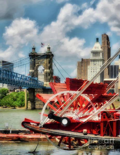 Ohio River Photograph - Cincinnati Landmarks 1 by Mel Steinhauer