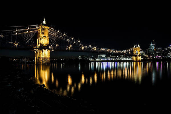 Photograph - Cincinnati Night Skyline by Sven Brogren