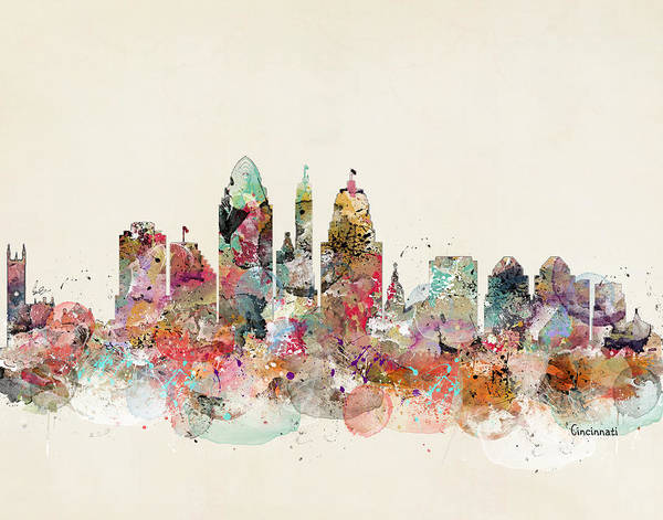 Cincinnati Wall Art - Digital Art - Cincinnati Ohio by Bri Buckley
