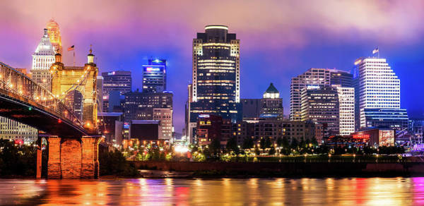 Photograph - Cincinnati Ohio Skyline Panorama by Gregory Ballos