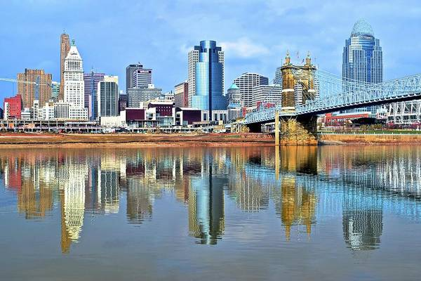 Municipality Photograph - Cincinnati Ohio Times Two by Frozen in Time Fine Art Photography