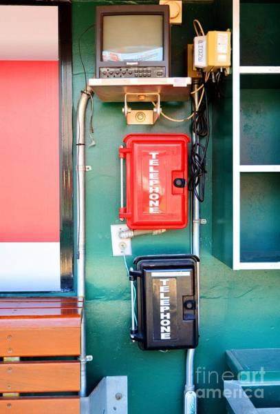 Photograph - Cincinnati Reds Dugout Hotline by Mel Steinhauer