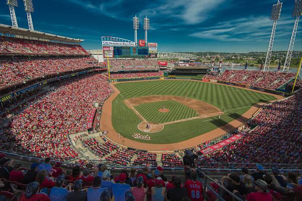 Photograph - Cincinnati Reds Great America Ballpark Creative 1 by David Haskett II