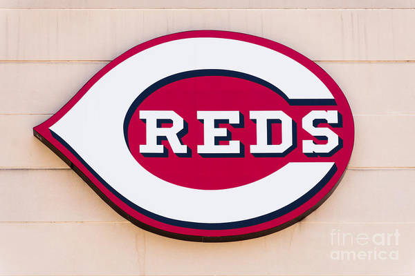 Editorial Photograph - Cincinnati Reds Logo Sign by Paul Velgos