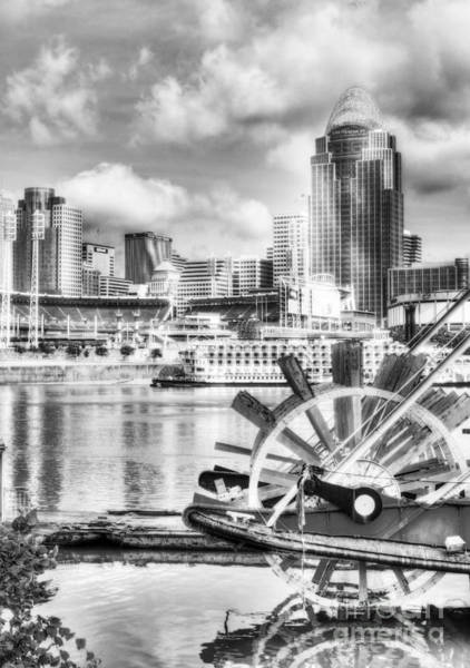 Photograph - Cincinnati River Days Bw by Mel Steinhauer