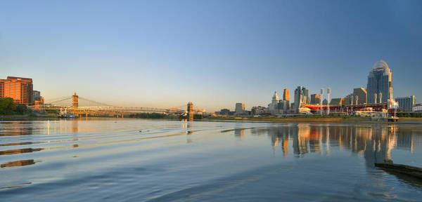 Photograph - Cincinnati Riverfront Panorama by Rick Hartigan