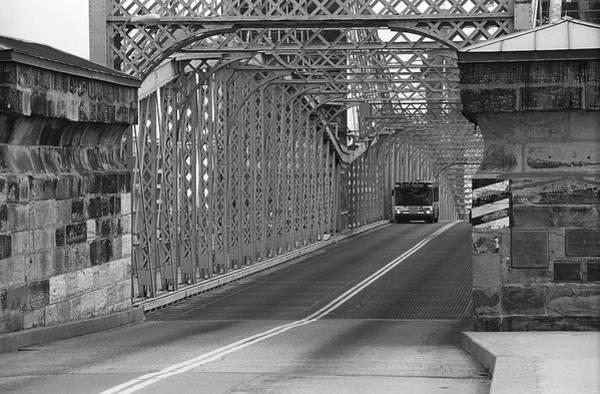 Wall Art - Photograph - Cincinnati - Roebling Bridge 1 Bw by Frank Romeo