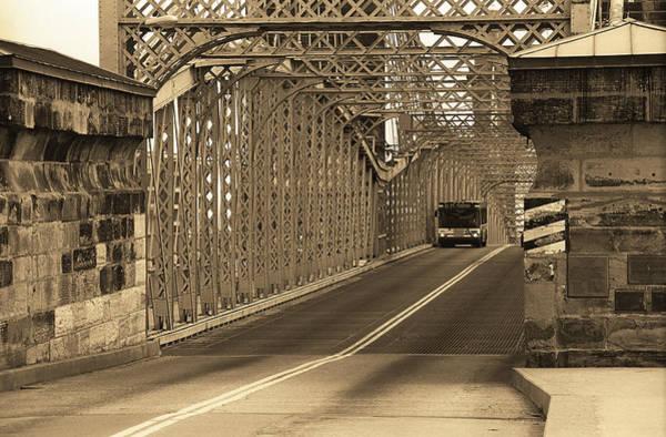 Wall Art - Photograph - Cincinnati - Roebling Bridge 1 Sepia by Frank Romeo