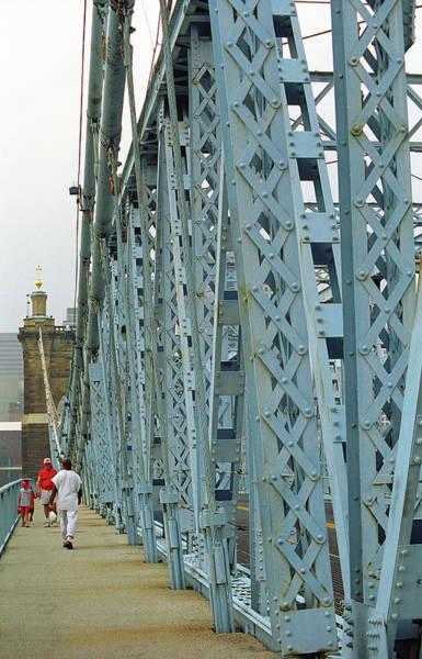 Wall Art - Photograph - Cincinnati - Roebling Bridge 3 by Frank Romeo