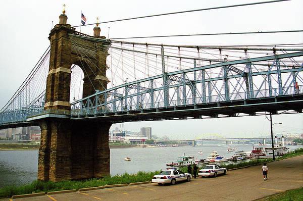 Wall Art - Photograph - Cincinnati - Roebling Bridge 5 by Frank Romeo