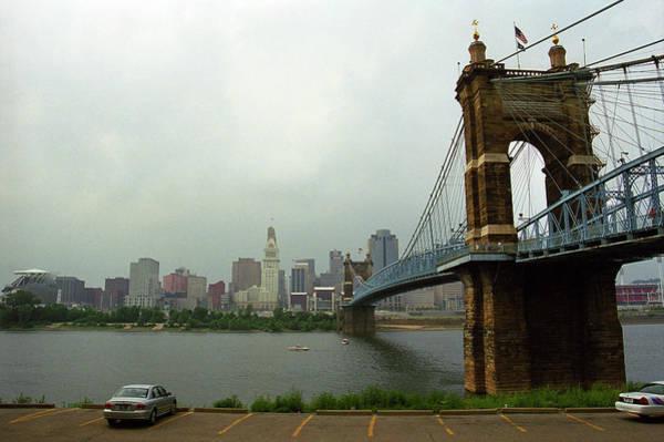 Wall Art - Photograph - Cincinnati - Roebling Bridge 6 by Frank Romeo