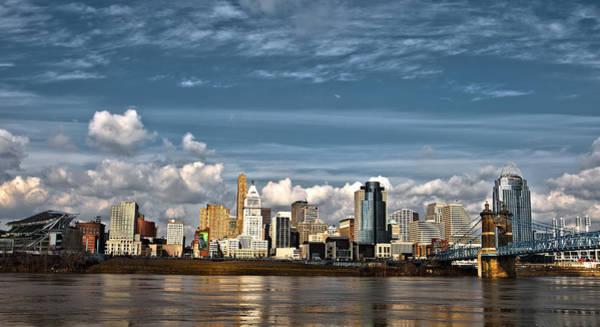 Cincinnati Skyline Hdr Art Print