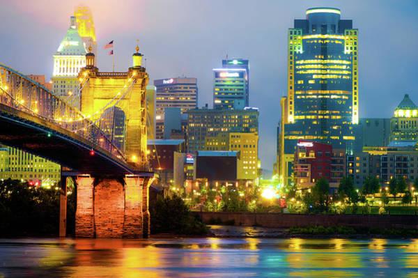 Photograph - Cincinnati Skyline Ohio River by Gregory Ballos