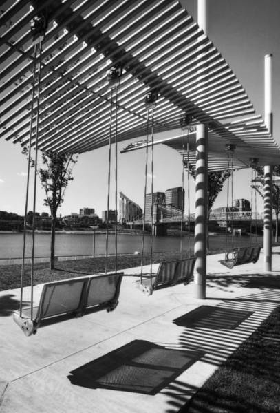 Photograph - Cincinnati Swings Bw by Mel Steinhauer