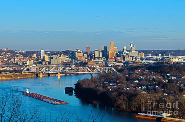 Cincinnati View From The West Art Print
