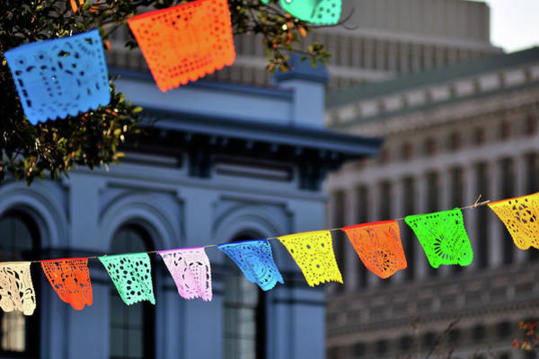Bunting Photograph - Cinco De Mayo by Allison Achauer