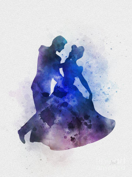 Prince Charming Wall Art - Mixed Media - Cinderella And Prince Charming by My Inspiration