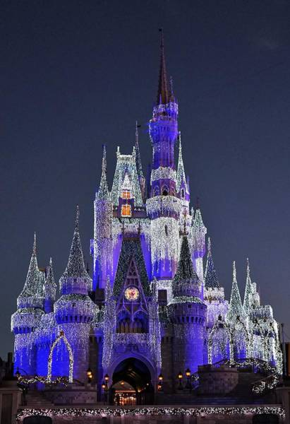 Digital Art - Cinderella Castle Holidays by Barkley Simpson