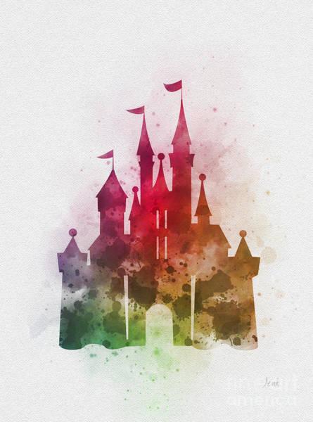 Cinderella Wall Art - Mixed Media - Cinderella Castle  by My Inspiration