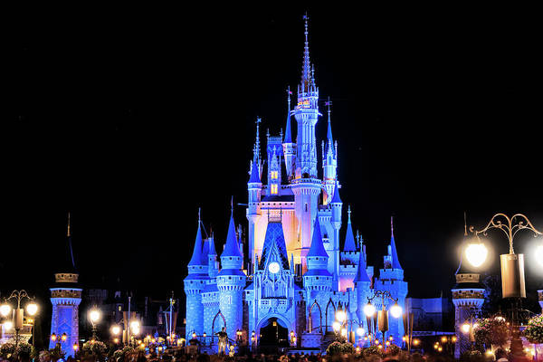 Photograph - Cinderella's Castle At Disney World by Jim Vallee