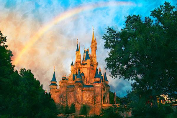 Mansion Mixed Media - Cinderella's Castle Art by Pamela Williams
