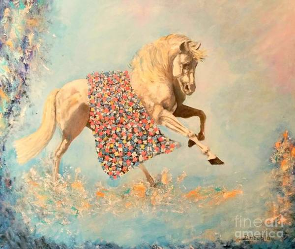 Painting - Cinderellas Unicorn by Dagmar Helbig