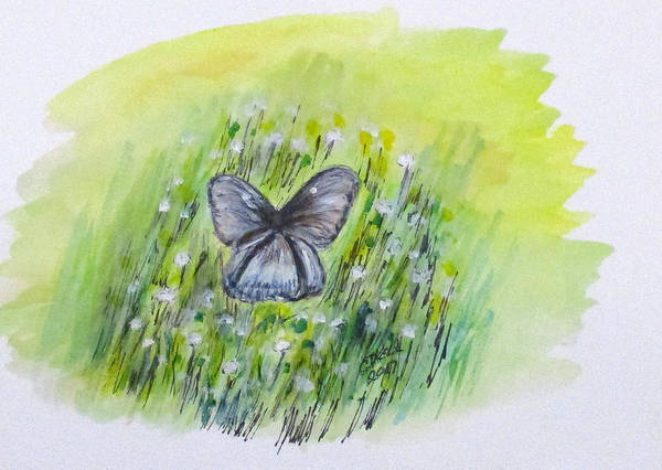 Painting - Cindy's Butterfly by Clyde J Kell