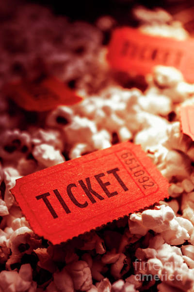 Wall Art - Photograph - Cinema Ticket On Snackbar Food by Jorgo Photography - Wall Art Gallery