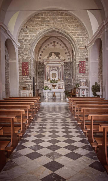 Photograph - Cinque Terre Italy Church Vintage by Joan Carroll
