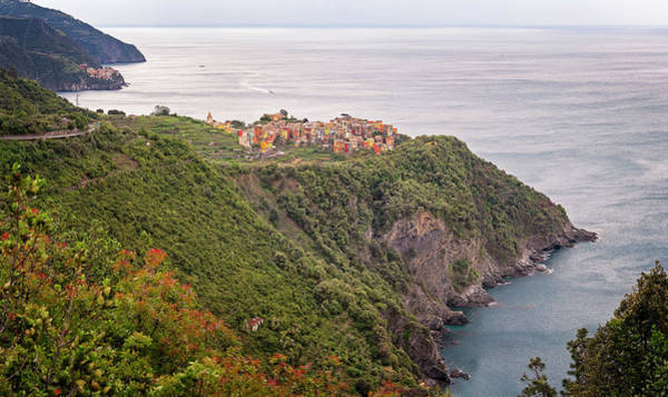 Photograph - Cinque Terre Italy Panorama by Joan Carroll