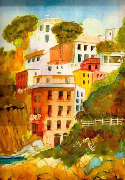 Cinque Terre Art Print by KC Winters
