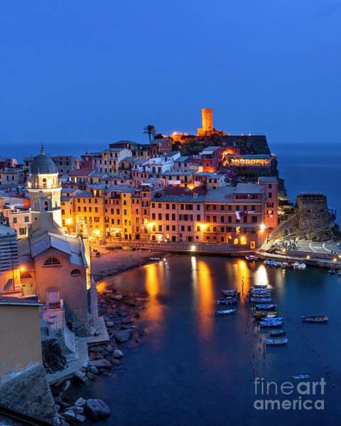 Photograph - Cinque Terre Twilight by Brian Jannsen