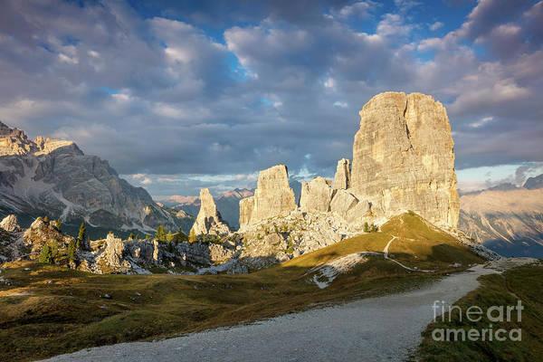 Photograph - Cinque Torri Evening by Brian Jannsen