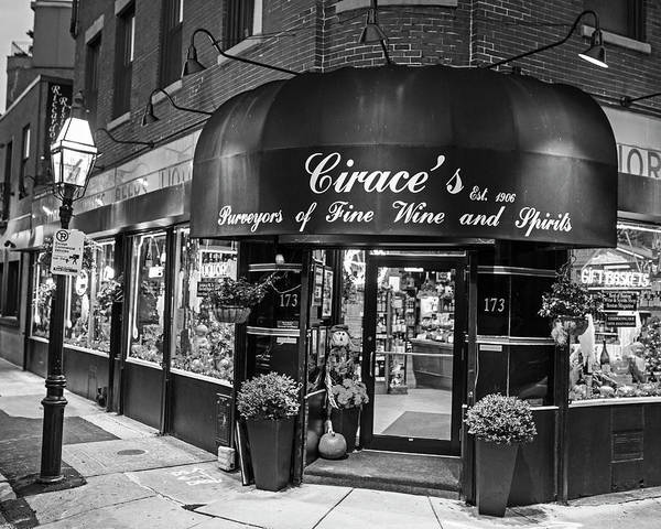 Photograph - Cirace's North End Boston Ma Black And White by Toby McGuire