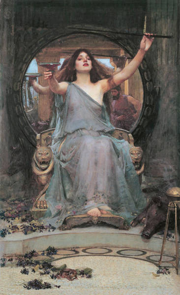 Mythology Painting - Circe Offering The Cup To Odysseus by John William Waterhouse