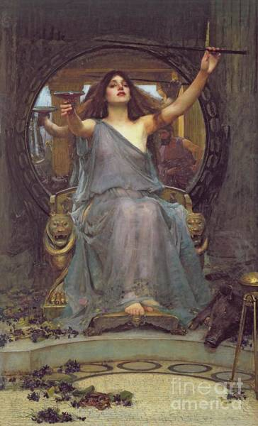 Wall Art - Painting - Circe Offering The Cup To Ulysses by John Williams Waterhouse