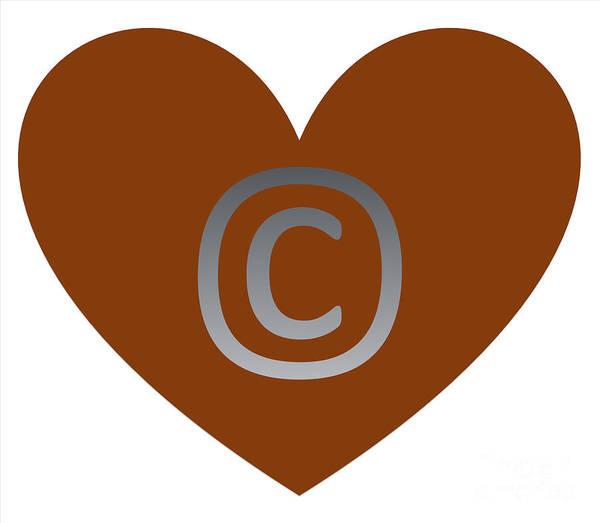 Digital Art - Circle C Brown  by Catherine Lott