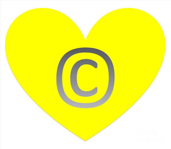 Digital Art - Circle C Yellow by Catherine Lott