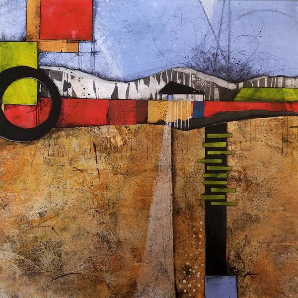 Graphic Mixed Media - Circle Home by Laura Lein-Svencner