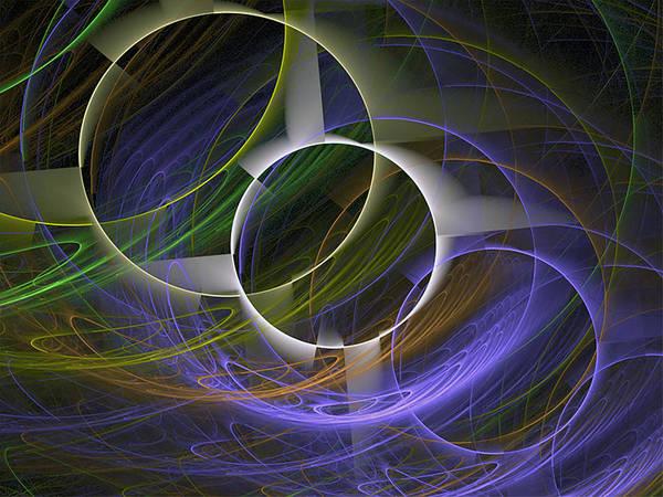 Digital Art - Circle Math by Barbara A Lane