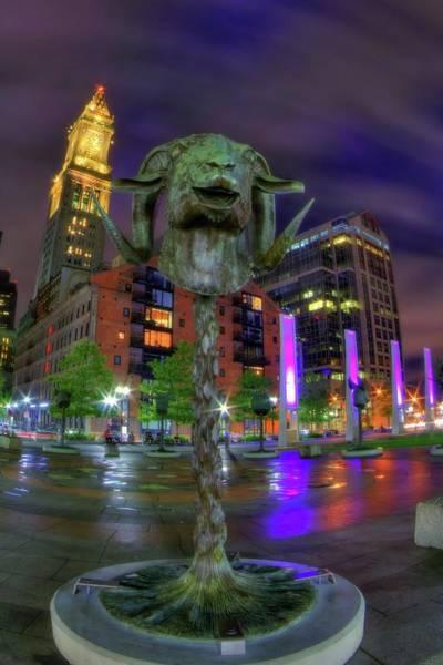 Photograph - Circle Of Animals - Chinese Zodiac Ram Head - Rose Kennedy Greenway - Boston by Joann Vitali