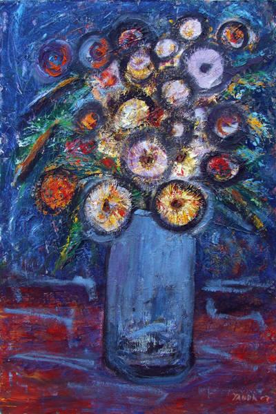Circle Of Flowers Art Print