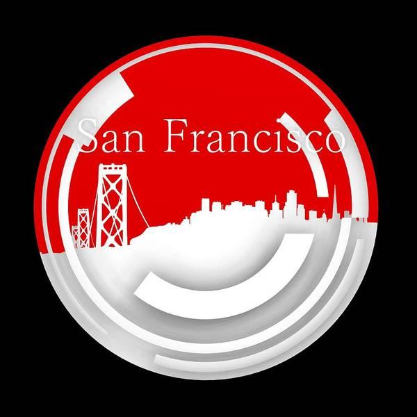 Digital Art - Circle Of San Francisco Skyline by Alberto RuiZ