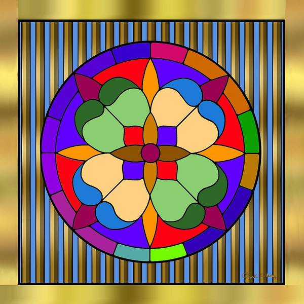 Digital Art - Circle On Bars 4 by Chuck Staley