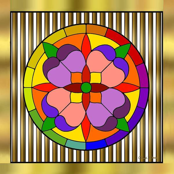 Digital Art - Circle On Bars by Chuck Staley