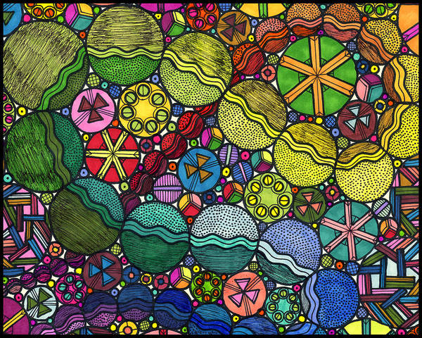 Entangled Painting - Circle Party by ZaMo Arts