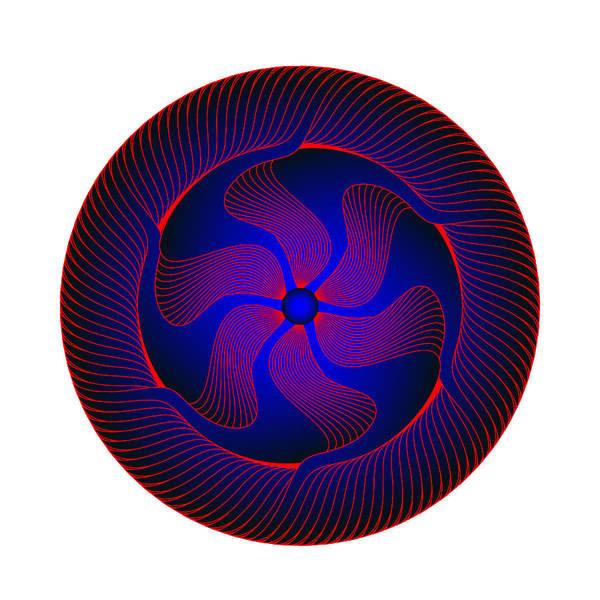 Digital Art - Circle Study No. 371.2 by Alan Bennington